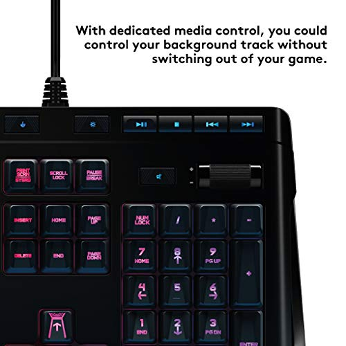 Product Image 6: Logitech G910 Orion Spectrum RGB Wired Mechanical Gaming Keyboard , Black