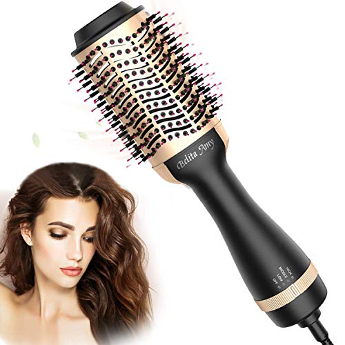 Hair Dryer Brush, Hot Air Brush with ION Generator Featuring Anti-Frizz,2020 Upgraded Blow Dryer Brush,4-in-1 Hot Air Brush for Drying, Styling, Straightening, Curling