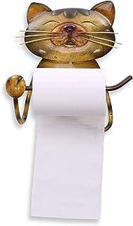 حامل ورق التواليت المثبت على الحائط، حامل ورق منشفة على شكل القط خمر الحديد الزهر المرحاض حامل لفة، حامل ورق التواليت لحما...