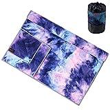 adorence Yoga Handtuch rutschfest Noppen (verbesserte PVC-Griffe + Seitentaschen) Mikrofaser...