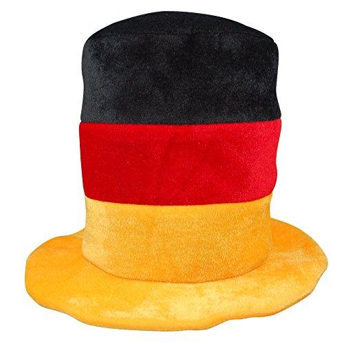 XXL Fanhut Deutschland Perfekt für die EM 2021 Plüsch Zylinder Hut Fußballhut Fanartikel