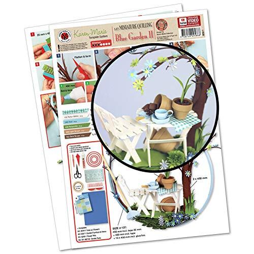 160 rayas Karen Marie Klip: quilling tiras de papel Mix Ocean 5x450mm