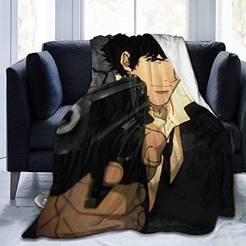 Cubierta ligera de anime Sommer Decke Flanell Decke Bett Sofa Wohnzimmer Decke-Cowboy Bebop (80'x60'/204x153cm) BLK-633