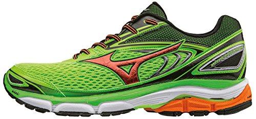 Mizuno Men's Wave Inspire 13 Running Shoes, Green (Green Gecko/Clownfish/Black), 6.5 UK 40 EU