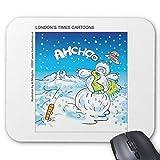 Alfombrilla de ratón de Goma Antideslizante Rectangular para Ordenadores portátiles (20 x 24 cm), Frosty Lucha contra la Gripe
