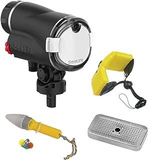 SeaLife Sea Dragon Digital Underwater Flash Head with Floating Wrist Strap, Nano Spotter & Silica Gel Metal Case Bundle