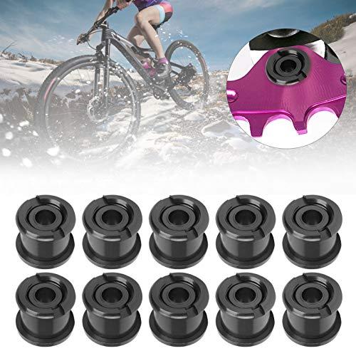 Meiyya Tornillo de Cadena de 10 Piezas, Tornillo de Disco, Pernos de Cadena de Bicicleta de montaña para Bicicletas de reparación de Bicicletas de Carretera y de montaña(Black)