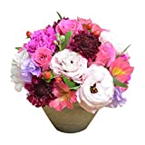 [エルフルール] 生花 カラーが選べる店長おまかせアレンジメント フラワーギフト 生花 誕生日祝い 結婚記念日 結婚祝い お祝い プレゼント ギフト (ピンク系)