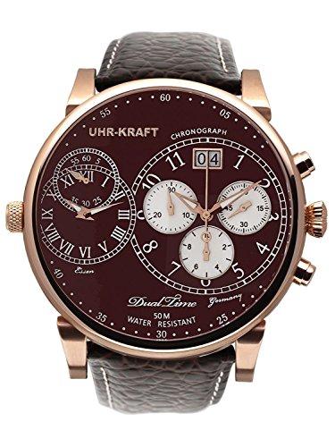 Uhr-Kraft Dualtimer 54 Classic Herren-Chronograph 27102/4RG