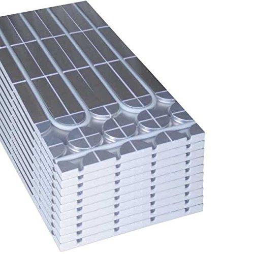 10 Stück = 5m² Sani-DRY Systemplatten zur Erweiterung unserer Sani-DRY Trockenbau Fußbodenheizung, ohne Heizrohr ohne Regelung