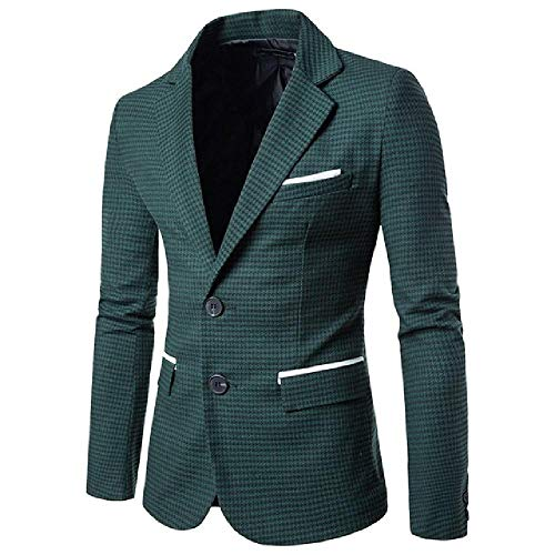 NOBRAND Casual Staggered Suit Blazer Slim Blazer formelle Wear Business Herren Anzug Gr. XX-Large, grün