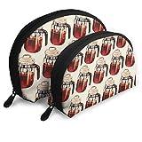 Lot de 2 sacs portables en forme de percolateur de café en forme de coquillage - Unisexe - Sac de rangement multifonction pour enfant - Porte-monnaie