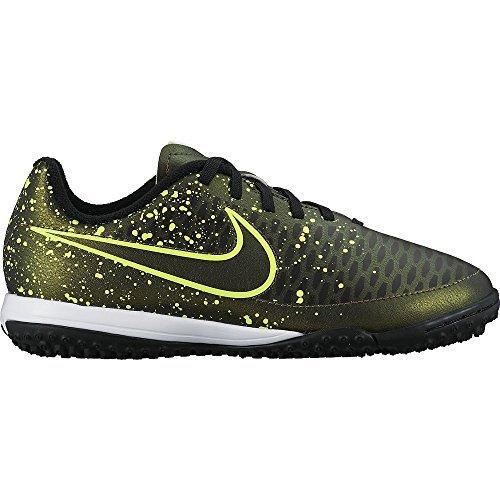 Nike Boys Jr Magista Onda TF Turf Soccer Shoes Dark Citron/Black 1 M US Little Kid