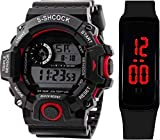 SELLORIA Digital Boy's & Girl's Watch (Black Dial) (Pack of 2)
