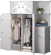 Portable Wardrobe Portable Wardrobe Closets Depth Cube Storage Bedroom Armoire Storage Organizer with Doors Clothing Stora...
