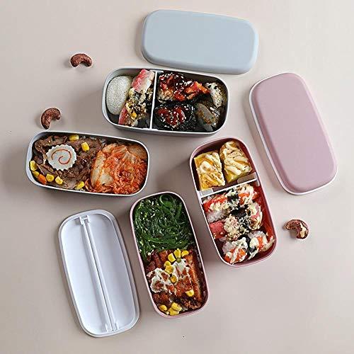 Fiambreras de material plástico saludable Vajilla para microondas Recipiente de almacenamiento de alimentos Caja de conservación de alimentos de doble capa Children's-Pink, China