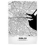 artboxONE Poster 30x20 cm Städte Dublin Retro Map