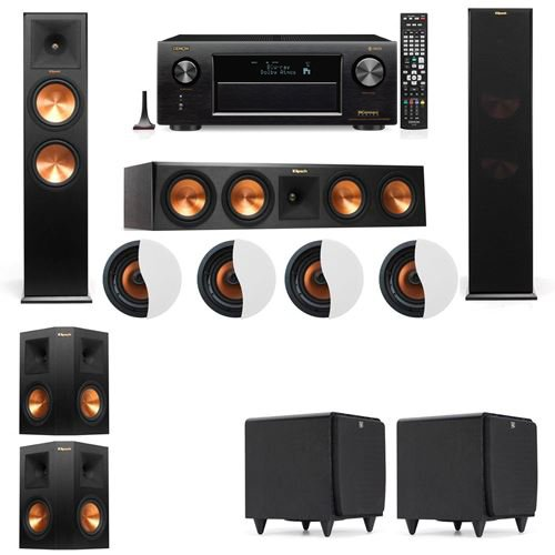 Review Dolby Atmos 5.2.4 Klipsch RP-280F Tower Speakers SDS12 with Denon AVR-X4300H