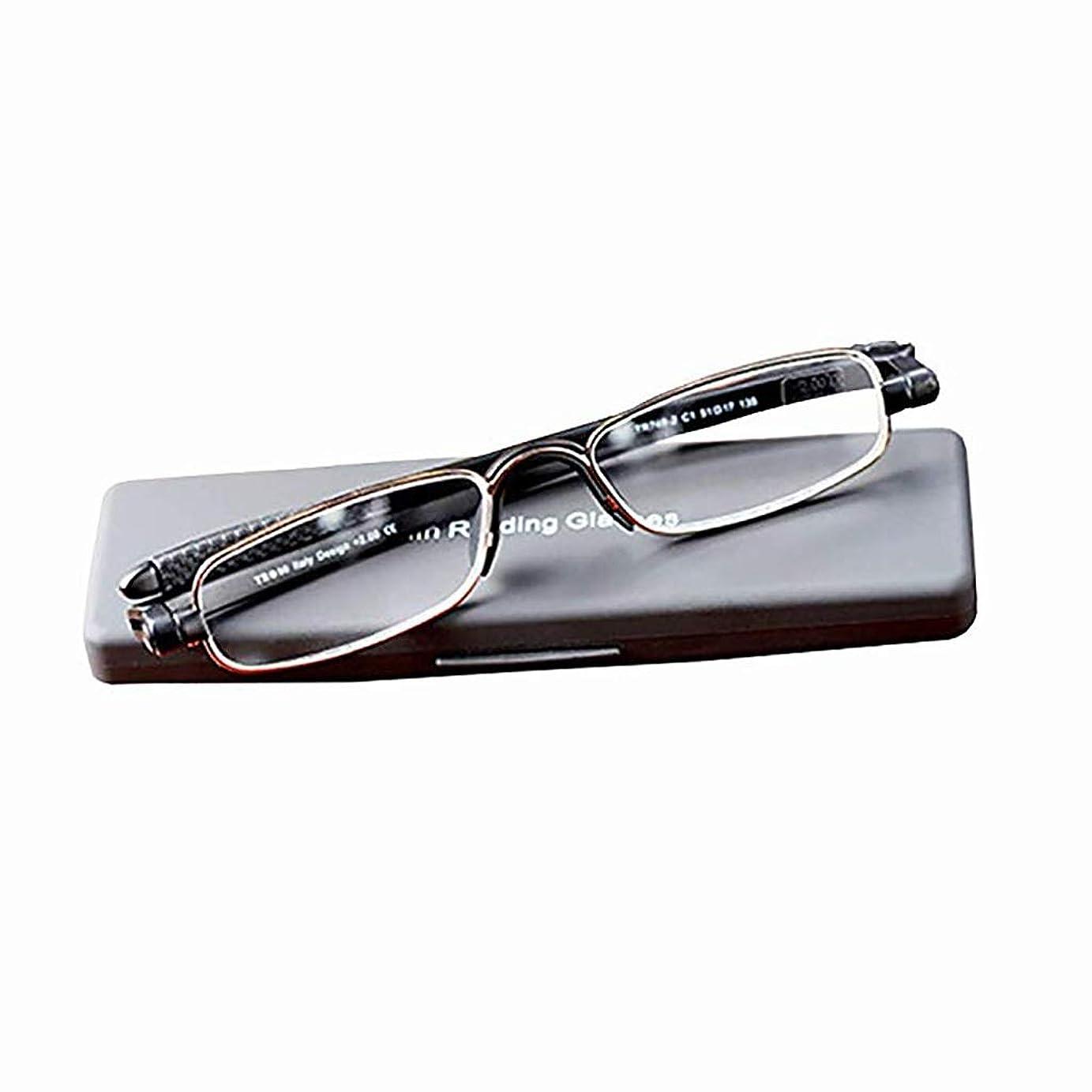 携帯用および流行の金属の老眼鏡、包装が付いている360度の回転HDの樹脂の老眼鏡、読書/読書新聞/TV/移動式/インターネットのために適した 花が咲く (Color : B, Edition : +1.50)