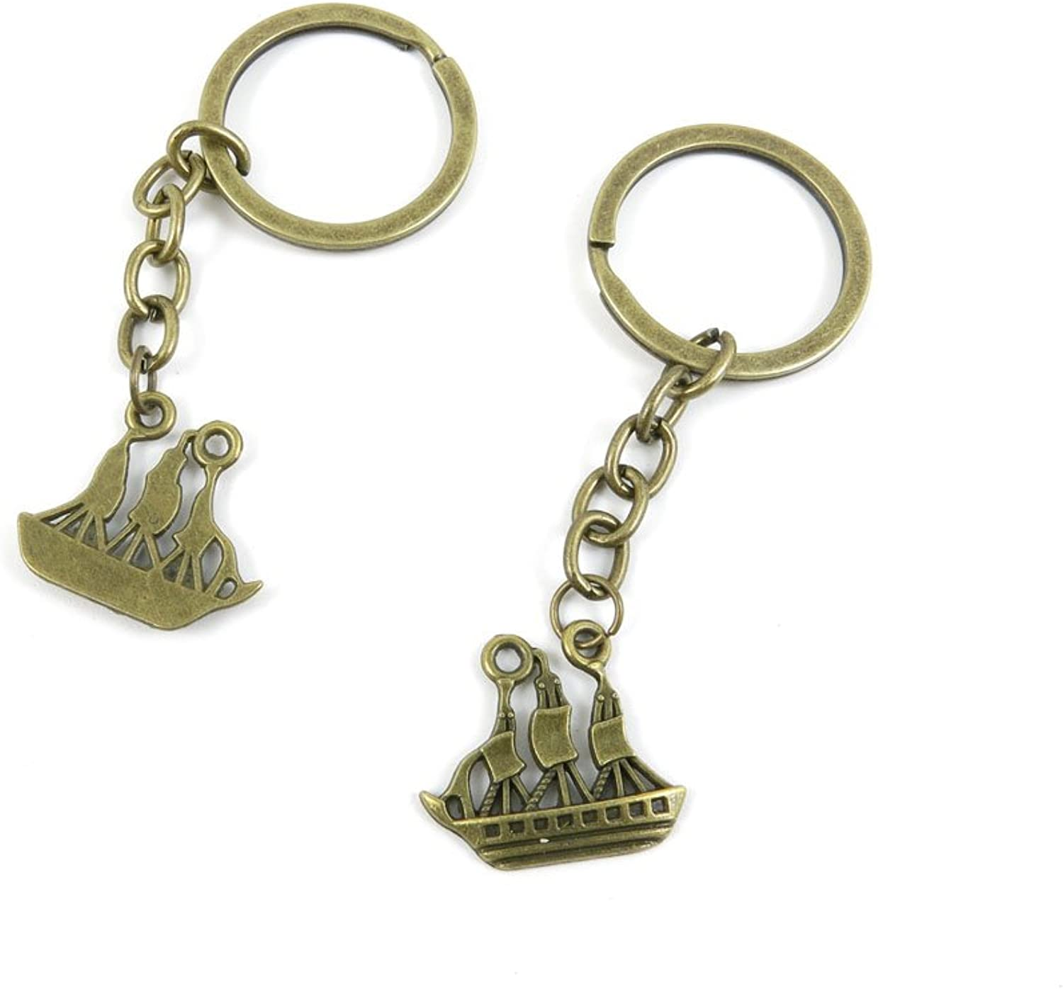 190 Pieces Fashion Jewelry Keyring Keychain Door Car Key Tag Ring Chain Supplier Supply Wholesale Bulk Lots G6WN3 Sailboat Sailing Boat