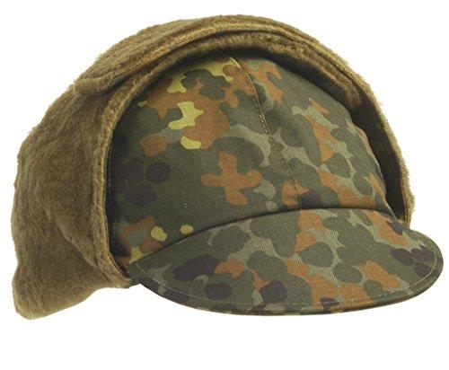 BUNDESWEHR Bonnet d'hiver après TL, camouflage, Taille : 64