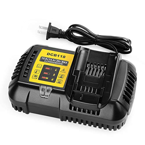 ANTRobut DCB118 Battery Charger Replacement for Dewalt 12V 20V MAX Lithium Ion Battery Charger DCB206 DCB205 DCB204 DCB203 DCB201 DCB120 DCB127