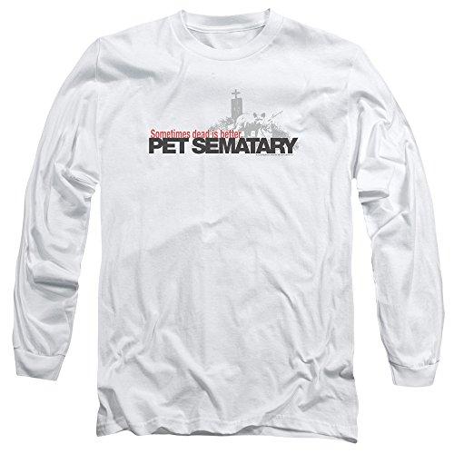 Pet Sematary Horror Novel Movie Stephen King Logo Adult Long Sleeve T-Shirt White