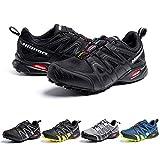 Zapatillas De Trail Running Impermeables para Hombre Mujer Zapatillas Trekking Zapatos Senderismo Deporte Negro Talla37
