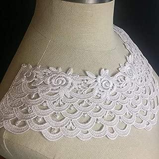 Lace Applique Neckpiece Yoke Embroidery Collar Motif, 8