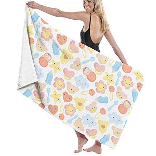 Jupsero Toallas multiusos lindas de las fibras del bebé toalla de baño grande/toalla de playa/toalla de baño