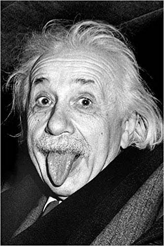 Albert Einstein - Tongue - Zunge Poster Plakat Druck - Größe 61x91,5 cm