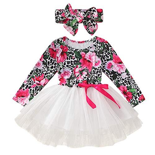 Borlai vestido de niñas trajes niños pequeños bebé niñas vestido de fiesta de manga larga vestido de…