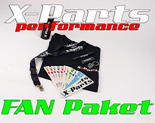 X-Parts FAN-PAKET T-Shirt Energy Turbo sticker aansteker sleutelband Kuli