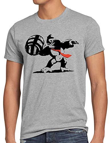 style3 Grafiti Kong Camiseta para Hombre T-Shirt Donkey Pop Art Banksy Geek...