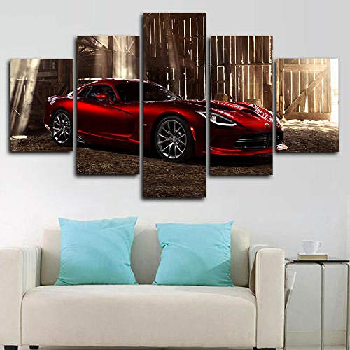 BAEPAYF Canvas Wall Art Waterfall 150X80 Cm Non-Woven Canvas Prints Image Framed Artwork Painting Picture Photo Home Decoration 5 Pieces Wall Artdodge Srt Viper