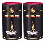 Burner Accendifuoco 2 x 100 Pezzi Bio Oil per Barbecue, Camino, Stufa e Caminetti - 200 bu...