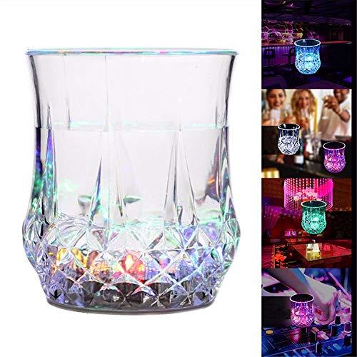 Whiskyglas 1 stuk Creative ananas Shaped water Sensing LED licht koffie wijn bier drinkglas mok voor bar party