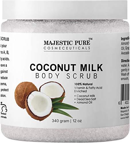 Majestic Pure Coconut Milk Body Scrub, Anti...