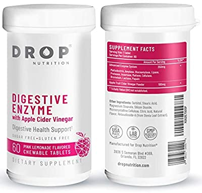 Digestive Enzymes with Apple Cider Vinegar - Delicious Sugar-Free Digestive Enzyme Supplements for Digestion and Healthy Gut - Vegan Non-GMO Daily Digestive Health Supplement - 60 Chewable Tablets