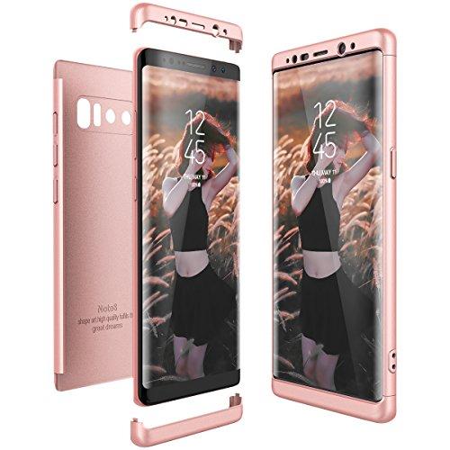 CE-Link Funda Samsung Galaxy Note 8, Carcasa Fundas para Samsung Galaxy Note 8, 3 en 1 Desmontable Ultra-Delgado Anti-Arañazos Case Protectora - Oro Rosa