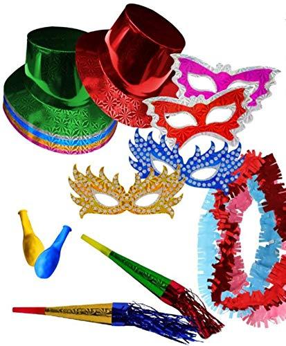 """Lote de 6 Bolsas de Cotillones Decorativos""""Sombrero Copa"""". Cotillón para Fiestas y Eventos. Decoración Original para Bodas, Comuniones,Cumpleaños y Fin de Año(Nochevieja)."""