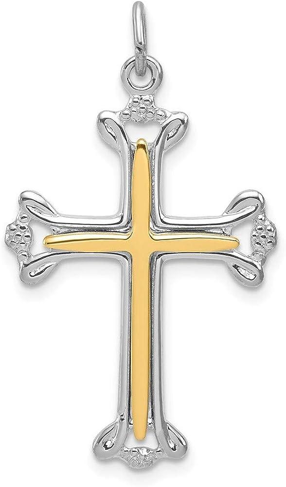 Ryan Jonathan Fine Jewelry Max 85% OFF Sterling sale Silver Cross Vermeil Budded