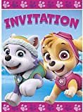 Unique Paw Patrol Girl Party Invitations, 8 Ct.