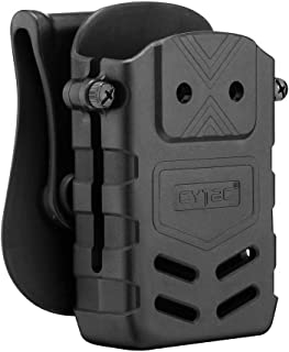CYTAC 5.56mm Rifle Magazine Pouch Fits M4/M16/AR15 Magazines, Polymer AR-15 Mag Holder with Belt Paddle, M16 Mags Holster, M4 Tactical Mag Carrier, Quick Draw, Ambidexterous Use