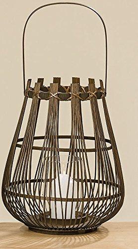 Unbekannt Bambus Windlicht Laterne braun 43cm