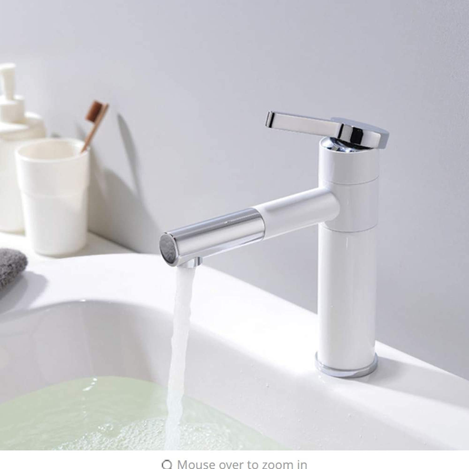 Lddpl Basin Faucets Solid Brass Chrome Modern Bathroom Sink Faucet Single Handle Washbasin Hot Cold Mixer Water Tap G1016 G1019