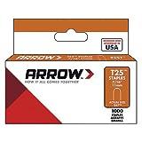 Arrow 160841 Boîte de 1000 cavaliers t25 11 mm - pour câble ø 6 mm, Argent