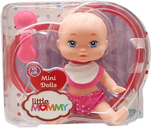 Brinquedos De Meninas Boneca Infantil Mini Dolls Little Mommy Papinha 15 Cm Pequena Babador Colher Bolhas De Sabão Pupee