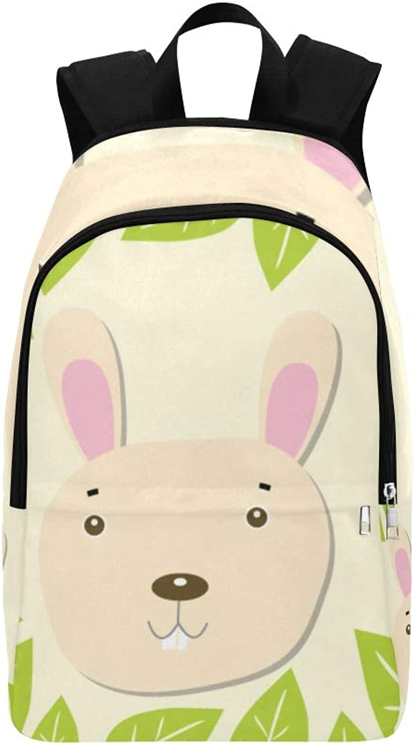 Bunny Forest 8 Casual Daypack Travel Bag College School Backpack for Mens and Women