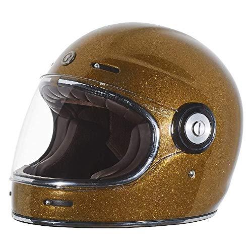 TORC T1 Unisex-Adult Retro Full-face-Helmet-Style Motorcycle (Gold Metallic, Medium)